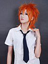 Cosplay Wigs Cosplay Cosplay Orange Short Anime Cosplay Wigs 35 CM Heat Resistant Fiber Male