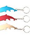 delfin formad flasköppnare nyckelring (slumpvis färg)