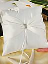Beautiful White Satin Ring Pillow