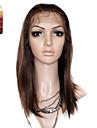 full lace medelstora långa Silky Straight 100% Indien REME hår peruk flera färger att välja