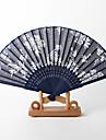 """Bumbac Ventilatoare și umbrele de soare-# Piece / Set Ventilatoare de Mână Temă Florală Alb Albastru8 ¼"""" h x 14 ½"""" w(21cm înalt ×37cm"""