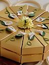 10 Piesă/Set Favor Holder-Piramidă Hârtie perlă Cutii de Savoare