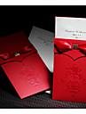 Vintage Red Flor-de-lis Wedding Invitation With Insert (Set of 50)