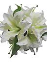 "Flori de Nuntă Rotund Trandafiri Buchete Nuntă Satin Alb 11.02""(Approx.28cm)"