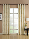 Two Panels Country Floral Botanical Beige Bedroom Poly Cotton Blend Curtains Drapes