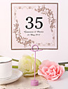 Place Cards and Holders Personalized Square Table Number Card - Splendid (Set fo 10)