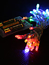 3m 4 färger ljus 2-läge LED string fairy lampa för jul (3xaa)