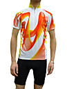 JAGGAD® Maillot de Cyclisme Homme Manches courtes Velo Respirable / Sechage rapide Maillot / Hauts/Tops Polyester / Coolmax Mosaique