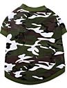 Chien T-shirt Vert Vetements pour Chien Printemps/Automne camouflage