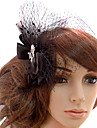 Women\'s Tulle Headpiece-Wedding / Special Occasion / Casual / Outdoor Fascinators Clear