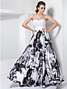 TS Couture® Prom / Formal Evening / Military Ball Dress - White / Black Plus Sizes / Petite A-line / Princess Sweetheart / Strapless Floor-length
