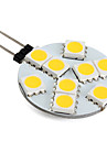 G4 1w 9 smd 5050 100 lm blanc chaud LED bi-pin lumieres v 1pcs