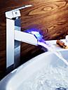 Robinet de salle de bain Sprinkle®  ,  Dessus de Meuble  with  Chrome 1 poignee 1 trou  ,  Fonctionnalite  for Lumineux LED / Centerset