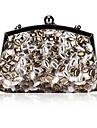 Satinado elegante con el bolso de noche Acryl Diamonds / Embragues