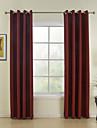 Två paneler Fönster Behandling Modern , Solid Dining Room Polyester Material gardiner draperier Hem-dekoration For Fönster