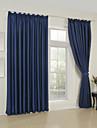 deux panneaux modernes solides chambre bleue rideaux a panneaux de rayonne opaques