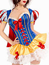 Costumes de Cosplay / Costume de Soiree Princesse / Conte de Fee Fete / Celebration Deguisement Halloween Jaune / Bleu MosaiqueRobe /
