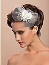 Women\'s Tulle Headpiece-Wedding / Special Occasion / Casual / Outdoor Fascinators / Flowers