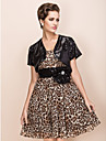 Party/Evening Sequined Coats/Jackets Short Sleeve Wedding  Wraps