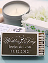 Wedding Décor Personalized Matchboxes - Hearts Prints (Set of 12)