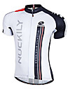 NUCKILY® Maillot de Cyclisme Homme Manches courtes Velo Respirable / Sechage rapide / Zip frontal / Vestimentaire Maillot / Hauts/Tops100