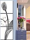 modern stil botaniska canvas väggklocka i 3st