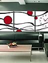 "12 ""-24"" Horloge murale moderne style abstrait en toile 3pcs"