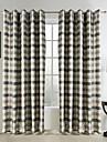 une paire de polyester jacquard traditionnelle salle de carreaux assombrissement rideau