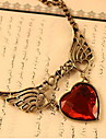 Women\'s Vintage Heart Wing Necklace