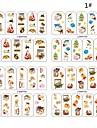4 uppsättningar av jul 2d plast twinkle nail art dekorativa spik tips