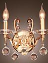 Kristall Vägglampetter,Modern/Samtida E12/E14 Metall