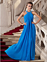 TS Couture® Prom / Formal Evening / Military Ball Dress - Elegant Plus Size / Petite Sheath / Column Halter Floor-length Chiffon with Beading