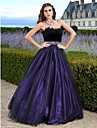 TS Couture Prom Formal Evening Quinceanera Sweet 16 Dress - Vintage Inspired A-line Ball Gown Princess Strapless Floor-length Tulle with