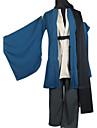 Inspired by Nurarihyon\'s Grandson Kubinashi Anime Cosplay Costumes Cosplay Suits / Kimono Solid Blue Long SleeveCoat / Kimono Coat /