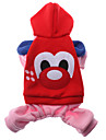 Dog Hoodie Red Winter Cartoon