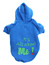 Dog Hoodie / Clothes/Clothing Blue Winter Letter & Number