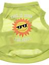 Chien Tee-shirt Vert Vetements pour Chien Ete Lettre et chiffre