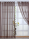 (Two Panels) Stripe Classic Sheer Curtain