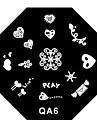 4ST Nail Art Graceful Lace Stamp Stamping Plattor Avbildar mallen