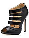 Scarpe Donna - Stivali - Formale - Spuntate - A stiletto - Finta pelle - Nero