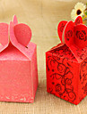 Classic Heart Style Favor Bags - Set of 12 (More Colors)