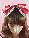 Bijoux Doux Coiffure Princesse Rouge / Noir / Incanardin / Bleu Lolita Accessoires Casque Noeud papillon / Couleur Pleine Pour Femme Coton