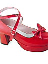 Chaussures Doux Fait a la Main Talon haut Chaussures Couleur Pleine 8 CM Pour Cuir PU/Cuir polyurethane Cuir polyurethane