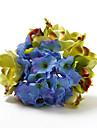 Smukke Round Satin Shape Wedding Bouquet