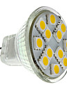 1.5W GU4(MR11) LED-spotlights MR11 12 SMD 5050 160 lm Varmvit DC 12 V