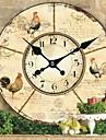 Pays Fleurs et animaux Horloge murale