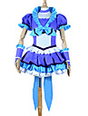 Inspire par PrettyCure Cure Beat Anime Costumes de cosplay Costumes Cosplay / Robes Mosaique Bleu Manche CourtesTop / Jupe / Casque /