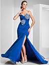 TS Couture® Prom / Formal Evening / Military Ball Dress - Sexy Plus Size / Petite Trumpet / Mermaid Strapless / Sweetheart Sweep / Brush Train Chiffon
