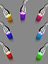 Contemporary Chrome Finish Color Changing LED Showerhead