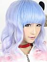 lolita onda peluca inspirada por 55cm de color azul y rosa dulces mixtos